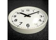 White Wall Clock 460mm Ø Mains Powered