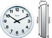 White Wall Clock 460mm Ø Impulse Controlled