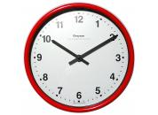 Red Wall Clock 222mm Ø Battery Operated