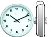 Grey Wall Clock 222mm Ø Battery Operated
