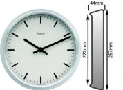 Satin Silver Clock 222mm Ø Battery Operated