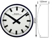 Double Sided Baton Dial Clock 410mm Ø Mains Operated