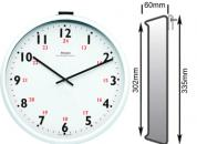 White Wall Clock 302mm Ø Impulse Controlled