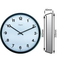 Satin Black Clock 302mm Ø Battery Operated