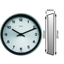 Satin Black Clock 222mm Ø Battery Operated