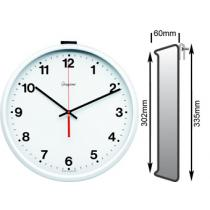 White Wall Clock 302mm Ø Battery Operated