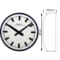 Double Sided Baton Dial Clock 610mm Ø Mains Operated