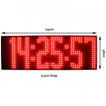 Large Digital Exterior Clock with 400mm Display HH:MM:SS